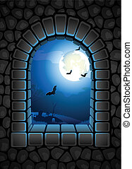 Halloween background - Vector illustration - Halloween...