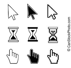 hand cursor hourglass - Vector illustration hand cursor...