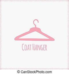 Vector illustration. Hand-drawn coat hanger