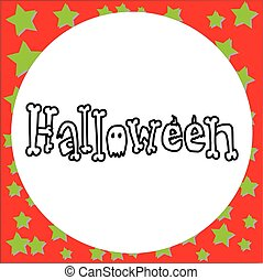 vector illustration hand drawn doodle Halloween lettering isolated on white background