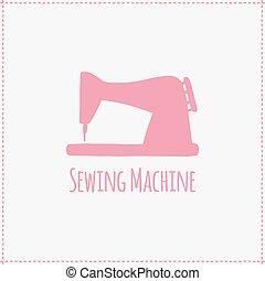 Vector illustration. Hand-drawn sewing machine