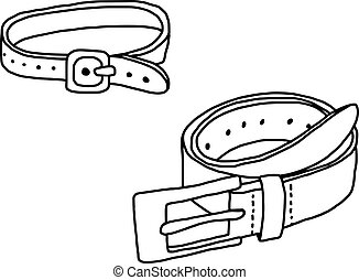 vector illustration hand drawn sketch of belt isolated on white background