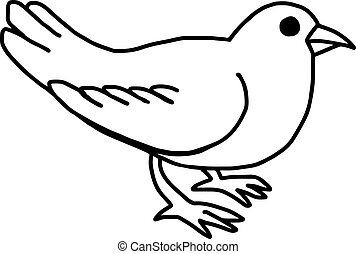 vector illustration hand drawn sketch of dove isolated on white background