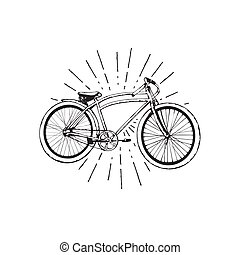 Old bicycle emblem