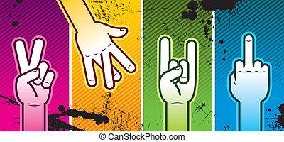 Vector illustration - hand sign