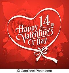 Vector illustration Happy Valentine