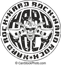stamp - Vector illustration hard rock stamp