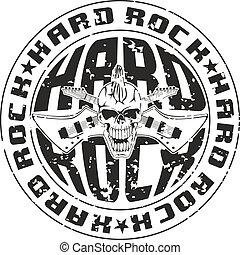 Vector illustration hard rock stamp