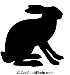 vector illustration hare isolated on white background