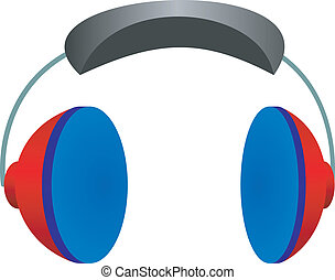 Vector illustration headphones on a white background