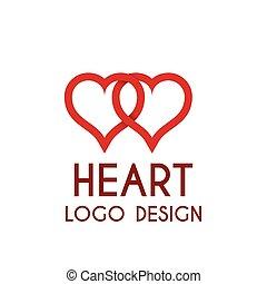 Vector illustration heart logo . 3d illustration.