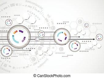 vector illustration Hi-tech digital technology concept,...