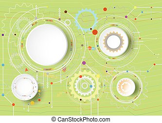 Vector illustration Hi-tech digital technology design colorful on circuit board