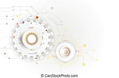 Vector illustration Hi-tech digital technology design colorful on circuit board.