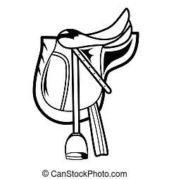 Vector illustration : Horse Saddle on a white background.