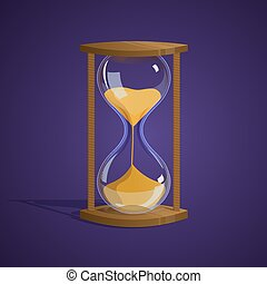 vector illustration hourglass