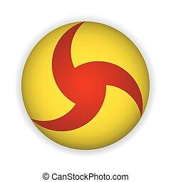 icon yellow button