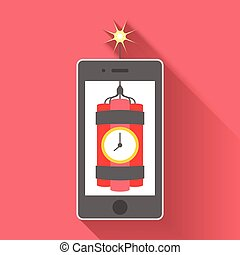 Vector illustration idea about technology in flat style