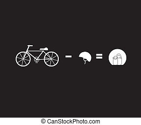 Vector illustration illustrator bicycle riding safty concept...