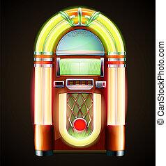 classic juke box - Vector illustration in eps 10 of retro...