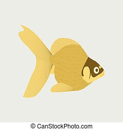 Vector illustration in flat style goldfish