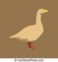 Vector illustration in flat style goose