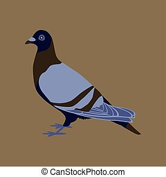 Vector illustration in flat style of dove