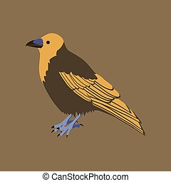 Vector illustration in flat style of raven
