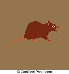 Vector illustration in flat style rat