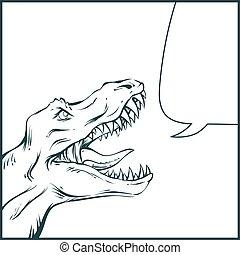 rawring dinosaur