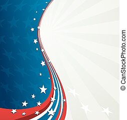 Vector illustration Independence Day patriotic background star pattern