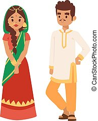 Vector illustration indian couple