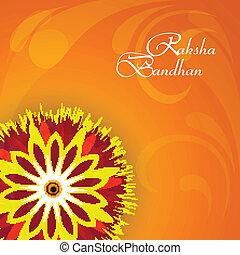 Vector illustration Indian festival Raksha Bandhan rakhi...