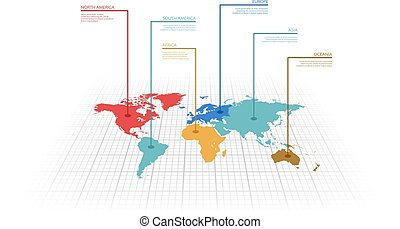 Vector illustration infographic of the World map