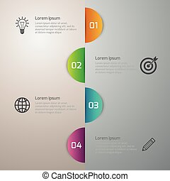 Vector illustration infographics 4 circle options