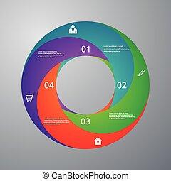 Vector illustration infographics circle