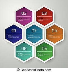 Vector illustration infographics hexagons