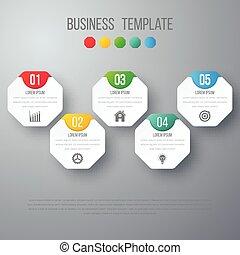 Vector illustration infographics five options.