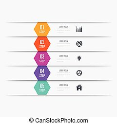 Vector illustration infographics five options