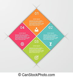 Vector illustration infographics four options. - Vector...