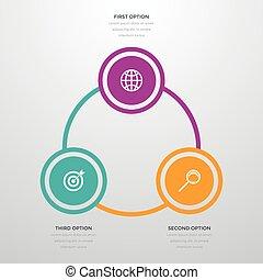 infographics three options