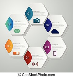 Vector illustration infographics with hexagons