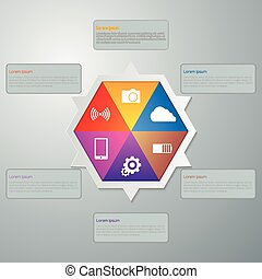Vector illustration infographics with hexagon