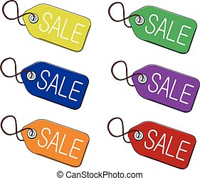 vector illustration isolated sale tag