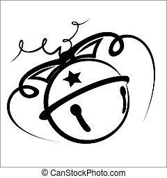 Vector illustration - Jingle bell on a white background.