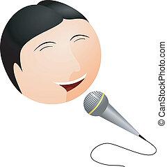 Vector illustration Karaoke