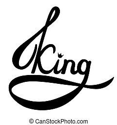 Vector illustration - king text
