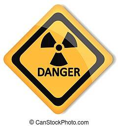 Vector illustration label radiation hazard