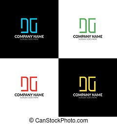 Vector illustration. Letter DG logo, icon flat and vector...