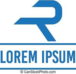 vector illustration letter r for transportation icon logo design
